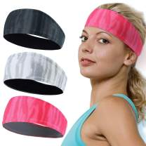 YOSUNPING Sports Headbands & Men Women Headband Sweatband Hairband Moisture Wicking Workout Sweatbands for Running, Yoga, Tennis, Cross Training, Crossfit, Basketball, Cycling