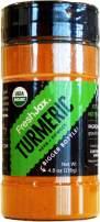 FreshJax Premium Organic Spices, Herbs, Seasonings, and Salts (Certified Organic Ground Turmeric - Large Bottle)
