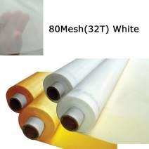 Silk Screen Printing Fabric Mesh 3 Yards 1.27 Meters Screen Printing Mesh Wide High Tension Mesh Making Ink Supplies(80 Mesh(32T))