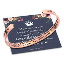Rose Gold Bracelets for Women Girl Personalized Gifts, Quote Mantra Bracelet Funny Inspirational Jewelry Gifts for Best Friend, Mom, Daughter, Sister, Niece Birthday Mothers Day Present Come Gift Box