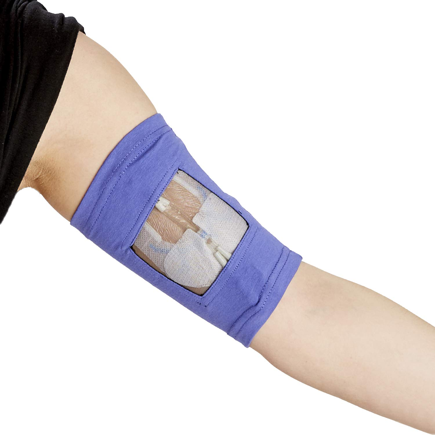 "Care+Wear Ultra-Soft Antimicrobial PICC Line Cover Violet M 13"" - 15"" Bicep"