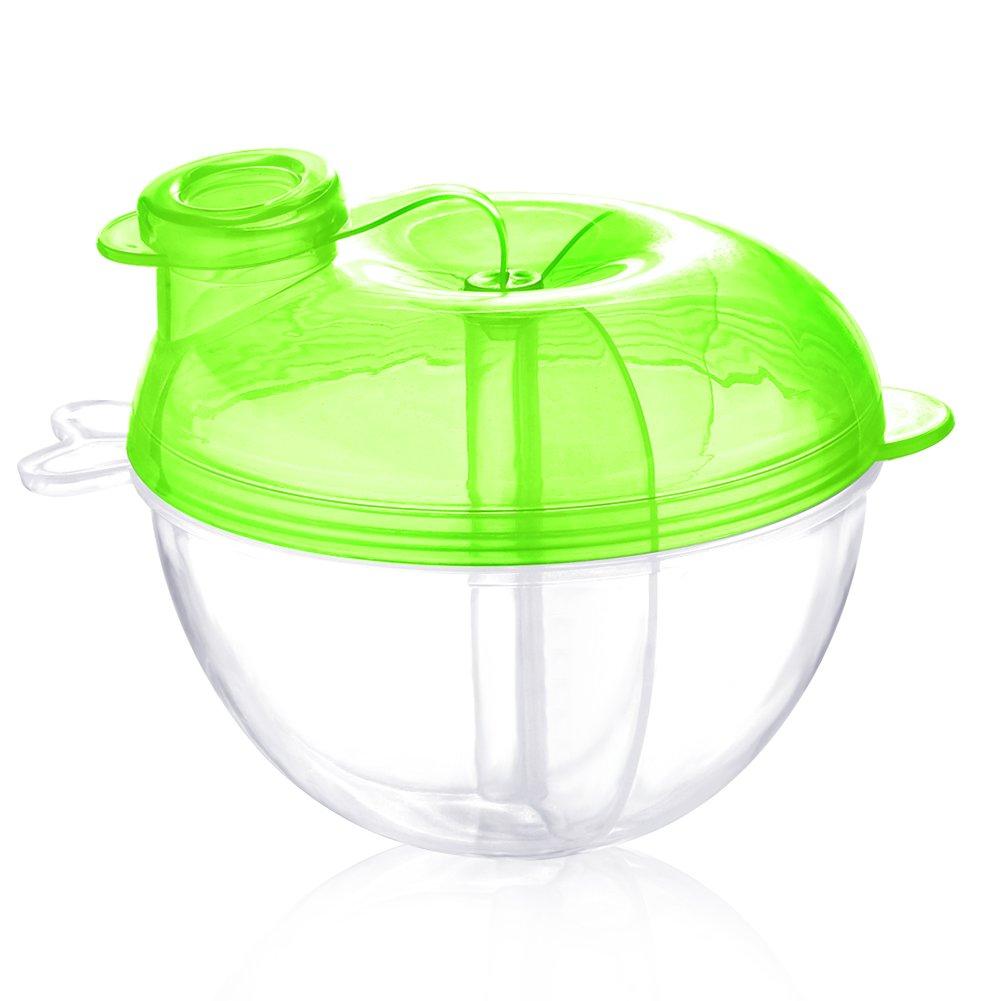 Accmor Baby Milk Powder Formula Dispenser, Non-Spill Formula Dispenser and Snack Storage Container, Green