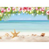 Allenjoy 7x5ft Hawaii Summer Tropical Beach Photography Backdrop Aloha Luau Party Seaside Scenery Background Birthday Party Baby Shower Banner Cake Dessert Table Decors Photo Booth Studio Props