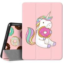 Hepix iPad 8th / 7th Generation Case iPad 10.2 Case with Pencil Holder 2020 2019, Unicorn Cute Pink Cartoon Trifold Protective Shockproof Cover Auto Sleep Wake for A2270 A2428 A2429 A2197 A2198 A2200