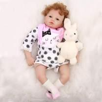 "OtardDolls Soft Vinyl Silicone Reborn Doll 22"" Reborn Baby Doll Lifelike Baby Doll Children Gifts (Lovely Silicone Doll Girl)"
