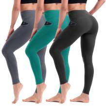 TNNZEET Women's High Waisted Yoga Pants – Soft Stretchy Active Ankle Leggings with Pockets for Workout Running