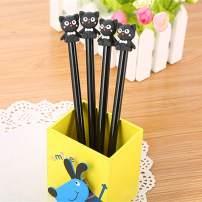 WIN-MARKET Animal Adorkable Bear Gel Ink Pen Cute Kawaii Black Writing Pens Ballpoint Black Ink Gel Pen Party Gift Gel Ink Pens Funny School Stationery Office Supplies(8PCS)