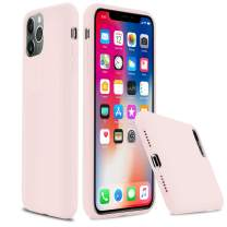 """lopie iPhone 11 Pro Liquid Silicone Case, [Silky Series] Slim Gel Rubber Full Body Protection Shockproof Cover for iPhone 11 Pro (5.8""""), Pink Sand"""