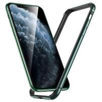 """ESR Bumper Case Compatible for iPhone 11 Pro Max, Metal Frame Armor with Soft Inner Bumper [Zero Signal Interference] [Raised Edge Protection] for iPhone 11 Pro Max 6.5""""(2019), Dark Green"""