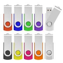 KOOTION 64GB USB 3.0 Flash Drives 10 PCS Memory Stick 3.0 Thumb Drives Pen Drives (Mixcolored)