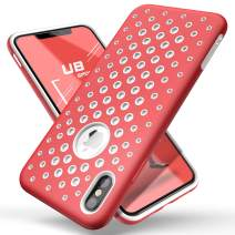 SUPCASE Unicorn Beetle Sport Series for iPhone Xs Case 2018 Release Liquid Silicone Rubber TPU Premium Hybrid Case [Hole Pattern] with Heat Dissipation (Red)