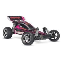 Traxxas 24054-1 Bandit 1/10 Scale 2WD Off-Road Buggy with TQ 2.4GHz Radio, Pink