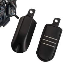 Black Motorcycle Highway Foot Pegs Footrest For Harley Touring Road King Glide