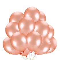 50Pcs 12 Inch 2.8 g/pc Rose Gold Latex Balloons -Bachelorette Wedding Baby Shower Rose Party Supplies and Decorations