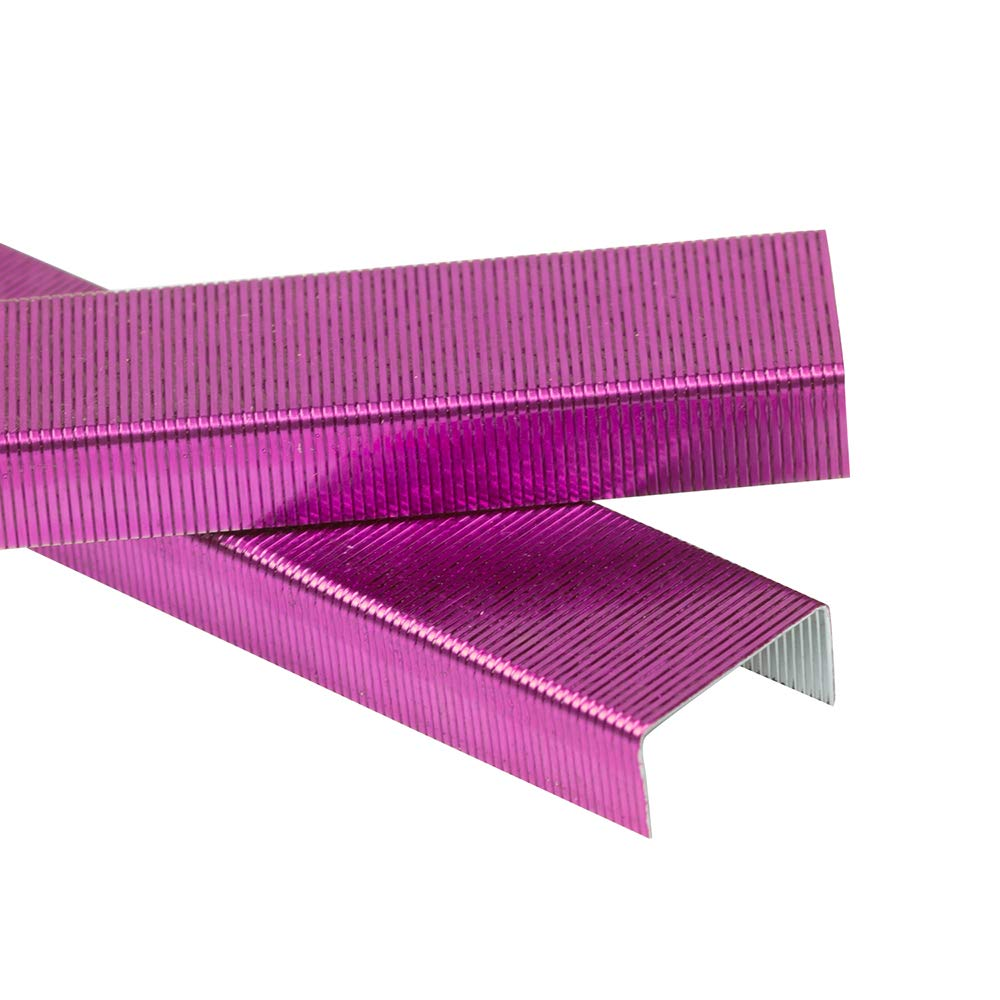 JAM PAPER Standard Size Colorful Staples - Fuchsia Pink - 5000/box