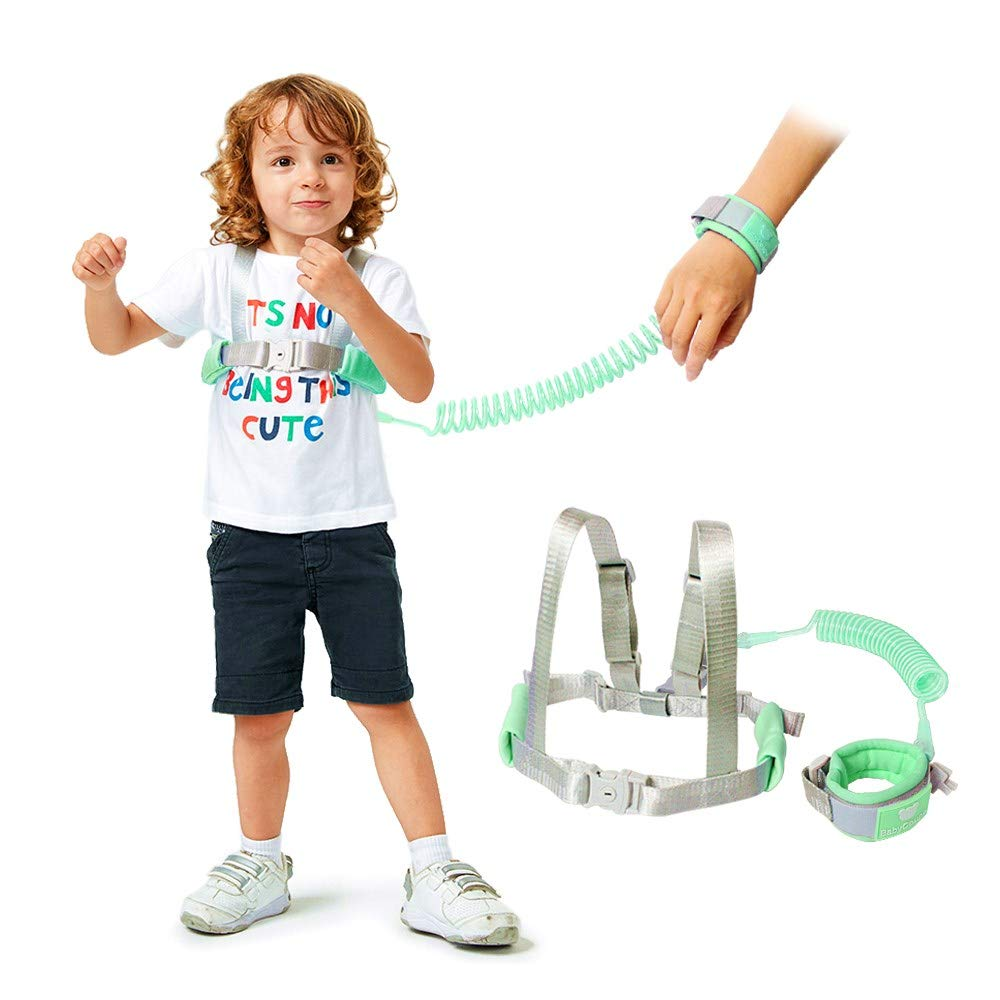 Lehoo Castle Toddler Leash for Walking, 2m Toddler Safety Harnesses Leashes, Safety Harness with Lock for Kids, Anti Lost Wrist Link Safety Wrist Link for Toddlers (Green)