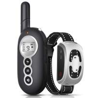 Dog Training Collar, Dog Shock Collar with Remote, Rechargeable, Rainproof, 1500Ft Remote Range, Shock Collar for Dogs 4 Working Modes, Beep Vibration Shock and Light, Adjustable