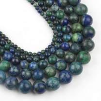 Yochus 10mm Lapis Chrysocolla Gemstone Phoenix Lapis Lazuli Malachite Round Loose Beads Natural Stone Beads for Jewelry Making