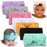 Knotted Baby Headbands Bows Nylon Baby Girls Head Wraps Hairbands Turban Newborn Infant Stretchy Headband Hair Accessories