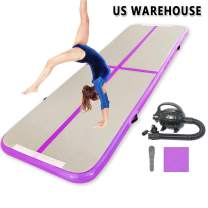 NAIZEA 10ft/13ft/16ft Tumble Air Track Mats, Inflatable Air Gymnastics Mats Airtrack Mats, Training Mats with Electric Air Pump for Home/Gym/Yoga/Water/Beach/Park