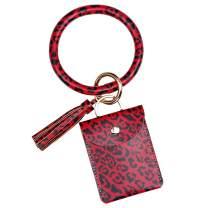 Wristlet Keychain Bracelet Bangle Keyring Round Key Ring Keychain Gift Keyring Bracelet For Women Girls