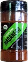 FreshJax Premium Organic Spices, Herbs, Seasonings, and Salts (Certified Organic Habanero Powder - Large Bottle)