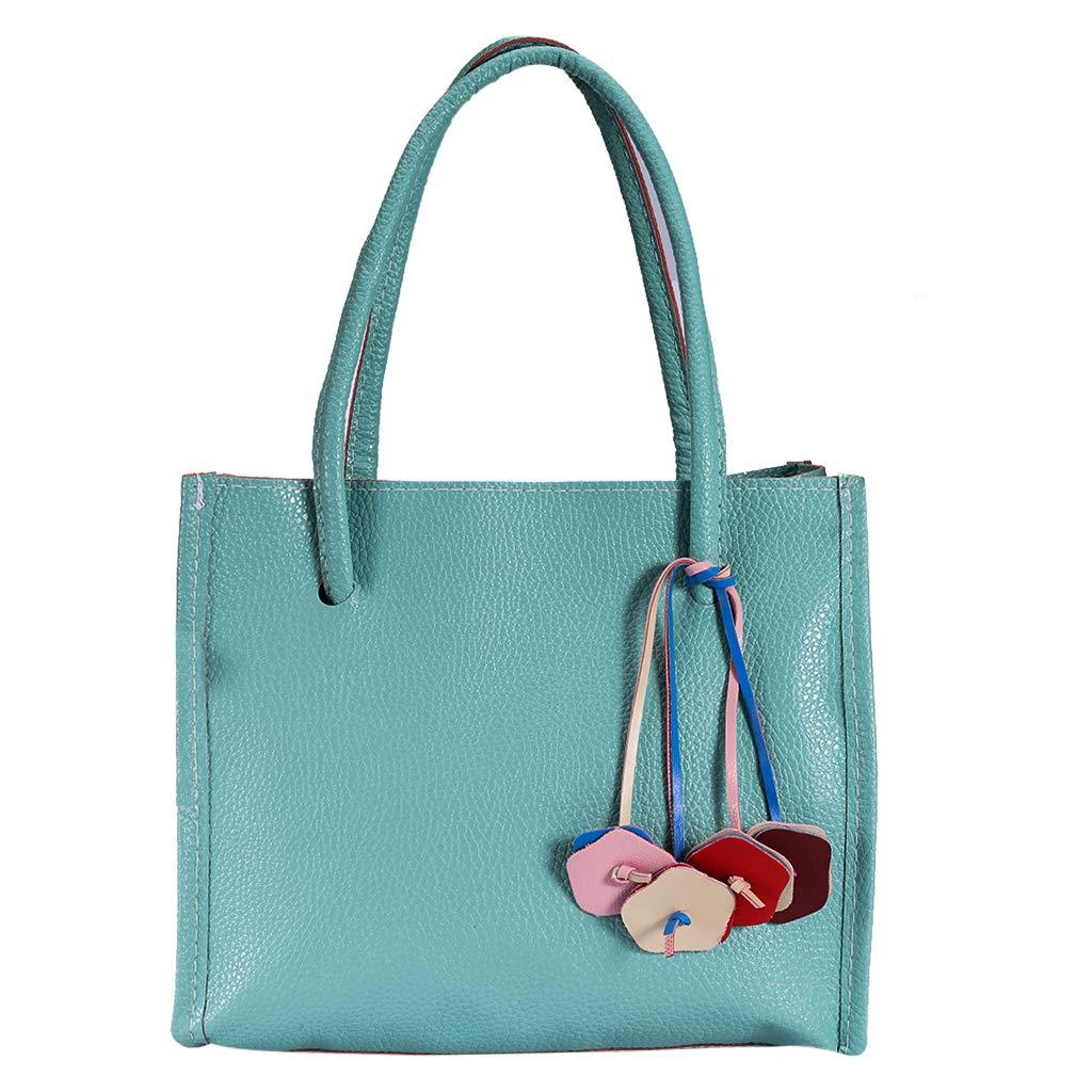 IGETELY Tote Bag for Women Shoulder Bag Top Handle Satchel Handbags Tassel Shoulder Purse Zipper Closure Diaper Bag Tote