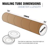 "Tape Logic TLP4060KHD Heavy-Duty Mailing Tubes, 4"" x 60"", Kraft (Pack of 12)"