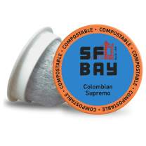 SF Bay Coffee Colombian Supremo, Medium Roast Compostable Coffee Pods, K Cup Compatible including Keurig 2.0, 36 Count