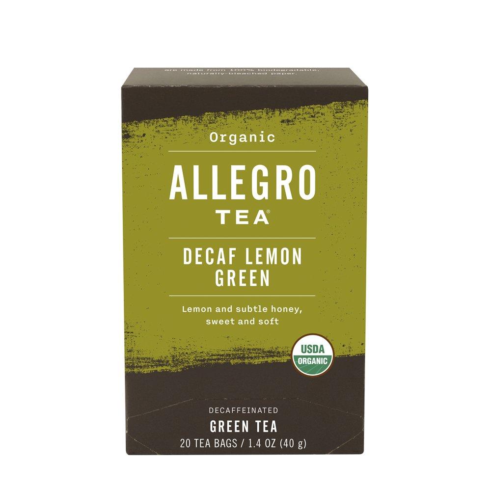 Allegro Tea, Organic Decaf Lemon Green Tea Bags, 20 ct