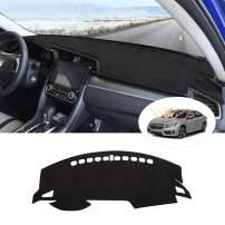 Cartist Dashboard Mat Cover Dash Cover Nonslip Dashboard Mat Protector Sunshade No Glare for Honda 10th Civic Sedan/Honda Civic Hatchback 2016-2020