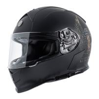 TORC Unisex-Adult Full Face helmet (Flat Black Wings, X-Small)