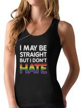 Pride Parade Gay Lesbian Tank LGBT Rainbow No Hate Flag Racerback Tank Top