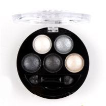 Mallofusa 5 Colors Eye Shadow Powder Metallic Shimmer Eyeshadow Palette (Galaxy Silver) 4.7oz