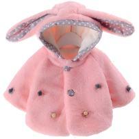 EGELEXY Baby Girl Fur Winter Warm Coat Cloak Jacket Thick Warm Clothes