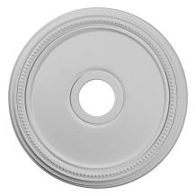 "Ekena Millwork CM18DI Diane Ceiling Medallion, 18""OD x 3 5/8""ID x 1 1/8""P (Fits Canopies up to 5 3/8""), Factory Primed"
