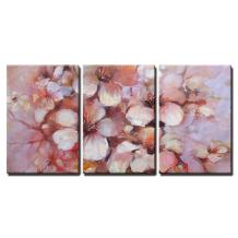 """wall26 - 3 Piece Canvas Wall Art - Almonds Blossom Printed Oil Painting on Canvas - Modern Home Decor Stretched and Framed Ready to Hang - 16""""x24""""x3 Panels"""