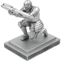 TBWHL Executive Knight Pen Holder with a Pen- Personalized Desk Accessory Pen Stand for A Gift - Decorative Pencil Holders Desk Organizer(Base Glue Not Included)