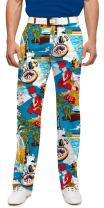 Loudmouth Golf - 97% Cotton/3% Spandex - John Daly Fun Colorful Bachelor Party Vegas Men's Pant - Tour Slit at Bottom Hem
