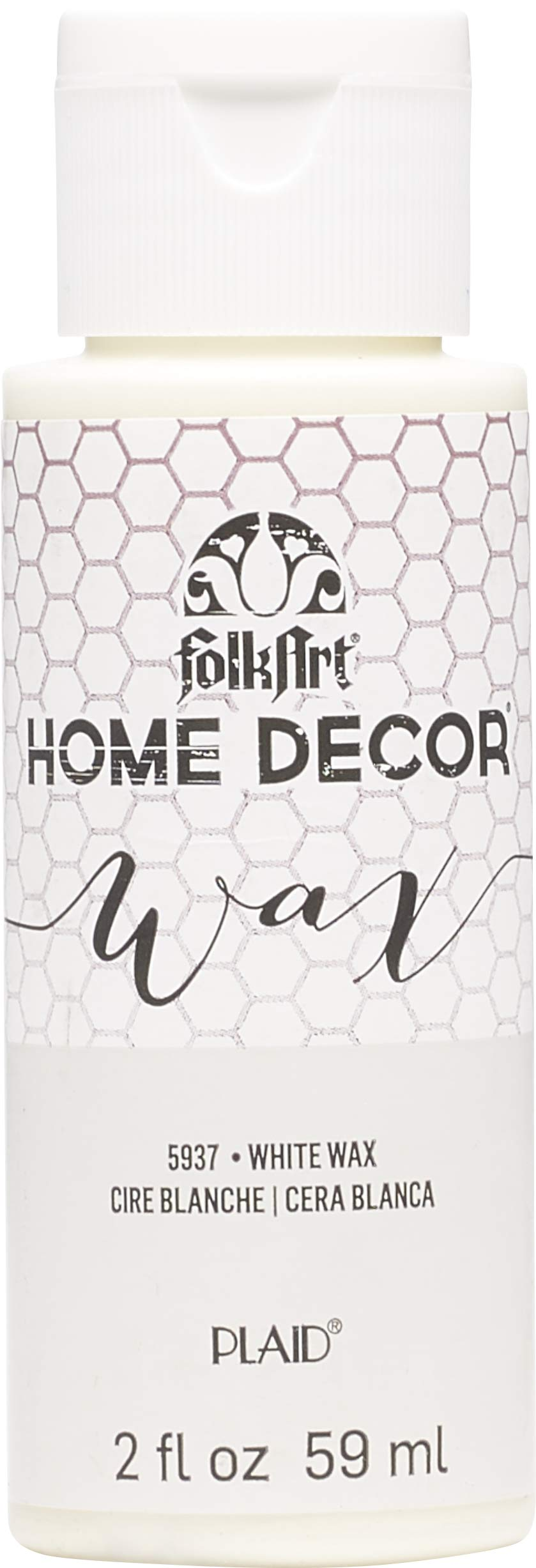 FolkArt 5937 Home Décor Chalk Furniture & Craft Paint in Assorted Colors, 2 Oz, White