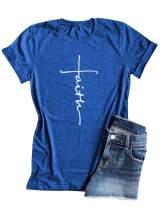 ZXH Women Tie Dye Shirt Cross Faith Shirt Graphic Print Tees Christian Shirt Christmas Shirt Fall Tops