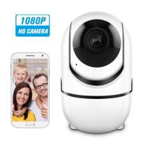 CACAGOO Video Baby Monitor with Camera and Audio, 2.4G Security WiFi Camera, Home IP Camera with Night Vision/Motion Detection, Remote Monitor with iOS, Android App - Cloud Service Available