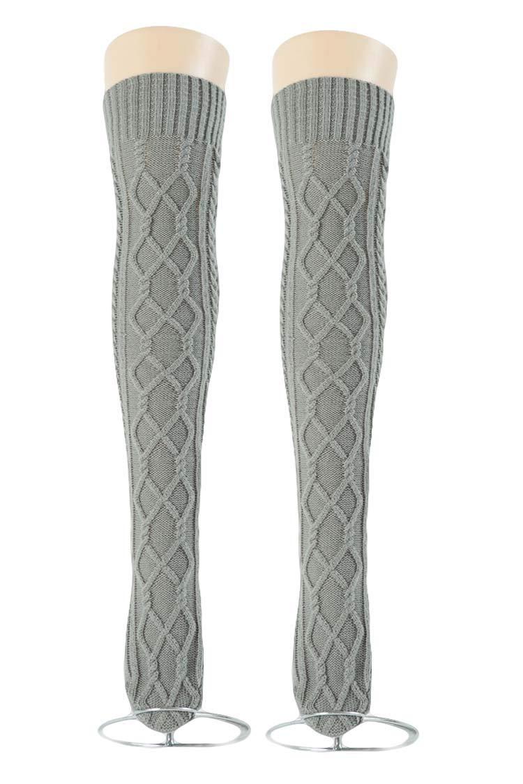 Women's Cable Knit Long Boot Socks Over Knee High Winter Leg Warmer Stocking