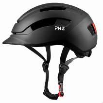 PHZ. Adult Bike Helmet with Rear Light for Urban Commuter Adjustable for Men/Women