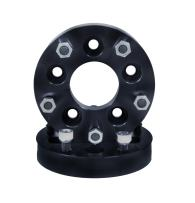 """Rugged Ridge 15201.07 Black Anodized Wheel Spacer Adapter Pair (1.375"""", 5 x 5"""" to 5 x 5.5"""" Bolt Pattern)"""