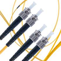 ST to ST Fiber Patch Cable Single Mode Duplex - 1m (3.28ft) - 9/125um OS1 / - Beyondtech PureOptics Cable Series