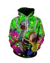 Bbalizko Unisex Funny Graphic Hoodies Pullover Cartoon Cosplay 3D Printed Sweatshirt with Front Pocket