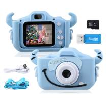 Kids Camera,1080P 20MP Digital Camera for Kids 2.0 Inches Screen Toddler Camera for Boys and Girls Anti-Drop Children Camera for Birthday Toy Gifts 4-14 Year-Old with Soft Silicone Case, 32GB SD Card