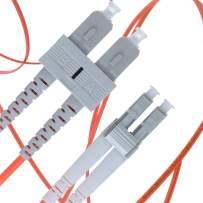 LC to SC Fiber Patch Cable Multimode Duplex - 2m (6.56ft) - 62.5/125um OM1 - Beyondtech PureOptics Cable Series