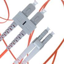 LC to SC Fiber Patch Cable Multimode Duplex - 5m (16.4ft) - 62.5/125um OM1 - Beyondtech PureOptics Cable Series